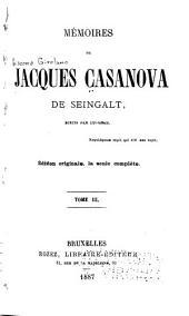 Mémoires de Jacques Casanova de Seingalt: Volume3