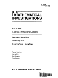 Mathematical Investigations  Networks  sports math  discovering rules  exploring rates  using maps PDF