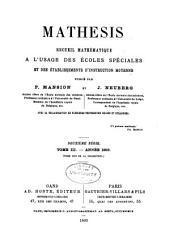 Mathesis: Volume13