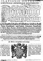 Relatio historica: Jacobi Franci historische Beschreibung der denckwürdigsten Geschichten .... 1685