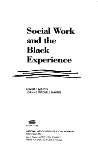 Social Work and the Black Experience