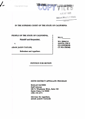 California. Supreme Court. Records and Briefs: S017168, Petition for Review