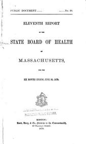 Annual Report of the State Board of Health of Massachusetts: Volume 11