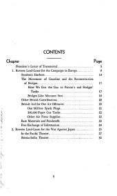 Report to Congress on lend-lease operations: Volumes 11-17