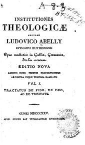 Institutiones theologicae: Volume 1