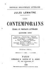 Les contemporains, études et portraits littéraires: Quatrième série