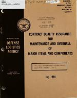 Contract Quality Assurance for Maintenance and Overhaul of Major Items and Components