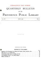Quarterly Bulletin of the Providence Public Library: Volumes 1-6