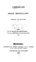 The American Prose Miscellany PDF
