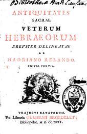 Antiquitates sacrae veterum Hebraeorum
