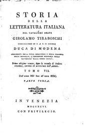 Storia della Letteratura italiana: Volume 7,Parte 4