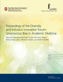 Download Unconscious Bias in Academic Medicine Book