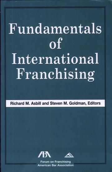 Fundamentals of International Franchising PDF