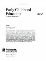 Early Childhood Education PDF