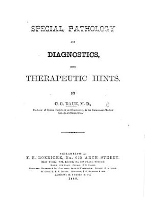 Special Pathology and Diagnostics  with therapeutic hints PDF