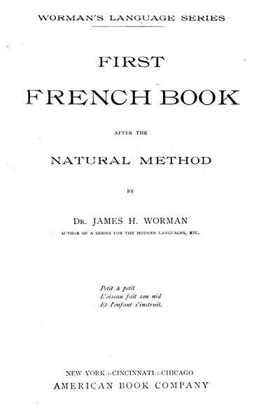 Download First French Book After the Natural Method Book