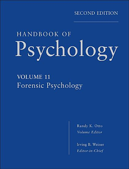 Handbook of Psychology  Forensic Psychology PDF