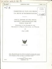 Annual report of the Social Security Administration submitted to the Congress by the Department of Health, Education, and Welfare