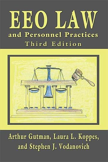 EEO Law and Personnel Practices  Third Edition PDF