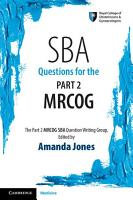 SBA Questions for the Part 2 MRCOG PDF