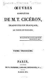 Oeuvres complètes de M.T. Cicéron: Les trois dialogues ... (continué); Brutus, ou Dialogue sur les orateurs illustres, tr. de V. Verger