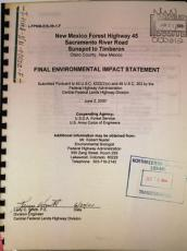 New Mexico Forest Highway 45  Sacramento River Road  Sunspot to Timberon  Otero County  New Mexico PDF