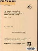 The Problem  Instantaneously Effecting Controlled Balloon system Descent from High Altitude PDF