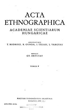 Acta Ethnographica Academiae Scientiarum Hungaricae PDF