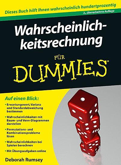 Wahrscheinlichkeitsrechnung f  r Dummies PDF