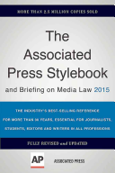 The Associated Press Stylebook 2015 Book