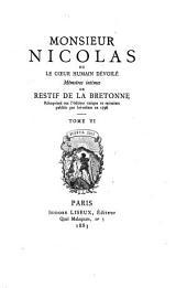 Monsieur Nicolas: ou, Le cœur humain dévoilé