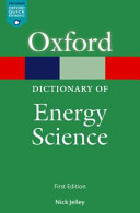 A Dictionary of Energy Science PDF