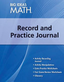 Record and Practice Journal Book