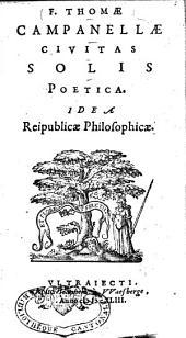 Civitas solis poetica: idea reipublicae philosophicae