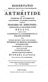De arthritide. Diss inaug. med. - Viennae, Schmid 1832
