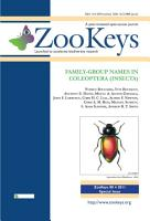 Family group Names in Coleoptera  Insecta  PDF