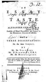 An Essay on Taste