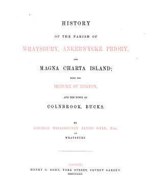 History of the Parish of Wraysbury  Ankerwycke Priory  and Magna Charta Island PDF