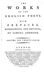 The Works of the English Poets: Buckingham; Lansdowne
