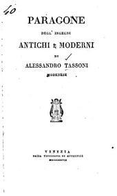 Paragone degl'ingegni antichi e moderni