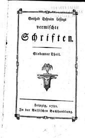Gotthold Ephraim Lessings vermischte Schriften: Bände 7-8