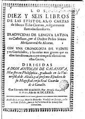 Los diez y seis libros de las epistolas o cartas