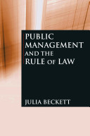 Public Management and the Rule of Law PDF