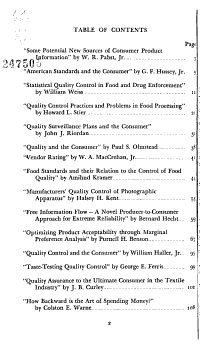 Quality Control and the Consumer PDF