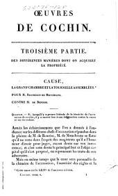 Oeuvres complètes de Cochin, avocat au Parlement de Paris: Volume5