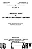 Planning and Design of Tall Buildings  Structural design of tall concrete   masonry buildings PDF