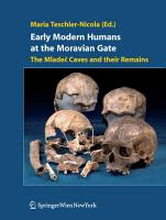 Early Modern Humans at the Moravian Gate PDF