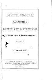 Officia propria Sanctorum diœcesis Monasteriensis