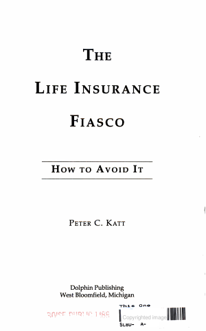 The Life Insurance Fiasco PDF