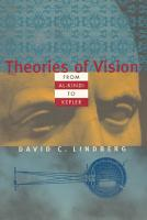 Theories of Vision from Al kindi to Kepler PDF